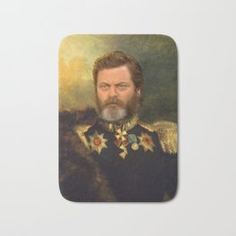 Nick Offerman Classical Painting Photoshop Bath Mat