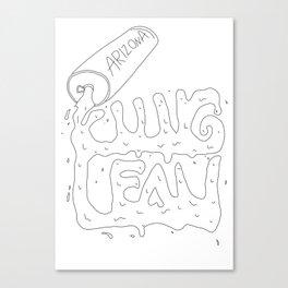 lean spill Canvas Print