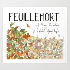 Feuillemort Art Print