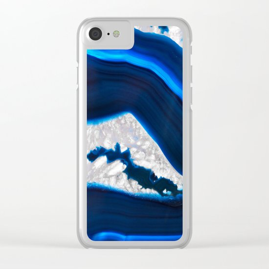 Electrical Agate Clear iPhone Case