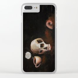 death, and the inevitable passage of time Clear iPhone Case