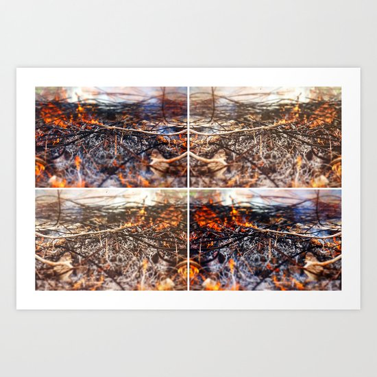 Burn Four Art Print