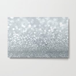 Diamond Dust Texture Metal Print