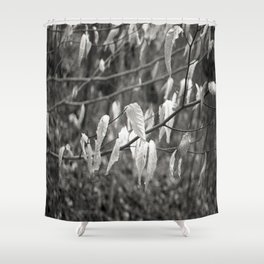 leaf in the wind  Shower Curtain