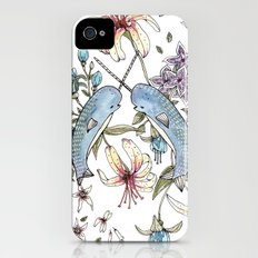 Narwhal pattern iPhone (4, 4s) Slim Case
