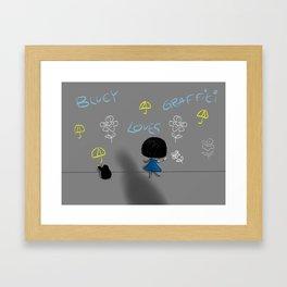 Bluey Loves Graffiti Framed Art Print