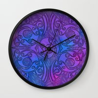 maori Wall Clocks featuring Maori/Polynesian Style by Lonica Photography & Poly Designs