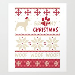 Brittany christmas gift t-shirt for dog lovers Art Print