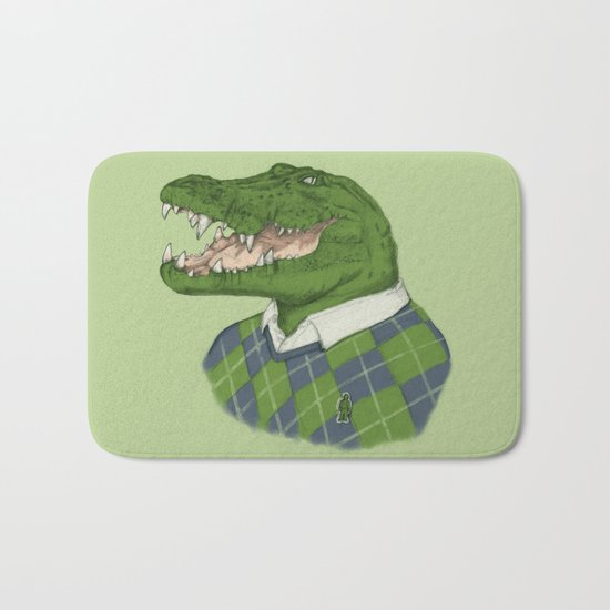 Argyle Crocodile Bath Mat