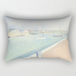 Georges Seurat - The Channel of Gravelines Rectangular Pillow