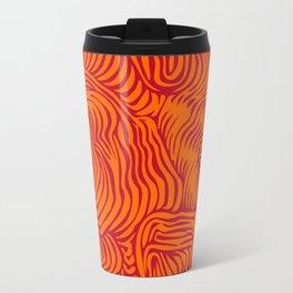 orange red flow Travel Mug