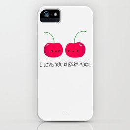 I Love You Cherry Much iPhone Case