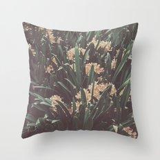 Jungle Blooms Throw Pillow