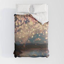 Love Wish Lanterns Comforters