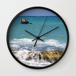 Beautiful day for fishing Wall Clock