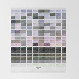 PANTONE glossary - Iceland - Reykjavík Throw Blanket