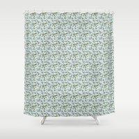 jasmine Shower Curtains featuring jasmine by Mayacoa