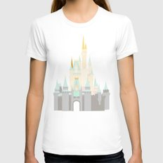 Castle 3 Womens Fitted Tee LARGE White