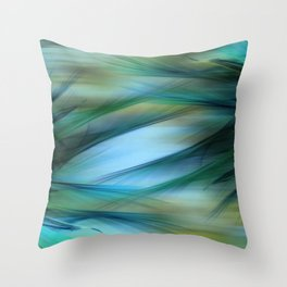 Soft Feathered Lights Abstract Throw Pillow