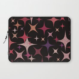 Shimmering Purple, Red, Pink and White Stars Laptop Sleeve