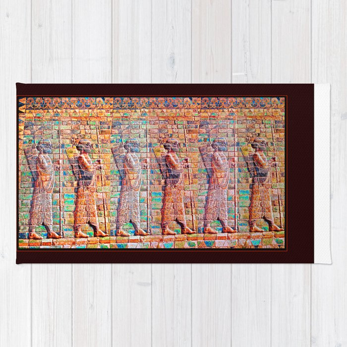 Persian Soldiers Marching Uphill to Oblivion Rug