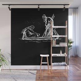 Norse Myth Frigg and Odin Sailing In Fensalir Wall Mural