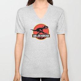 Jurassic Parkour Unisex V-Neck
