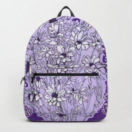Chrysanthemum, violet version Backpack