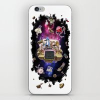 regular show iPhone & iPod Skins featuring Regular Show lost in Universe by CarolaRT