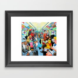 On the tube Framed Art Print