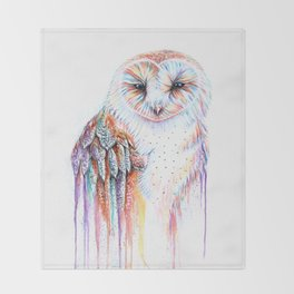 Colorful Owl Throw Blanket