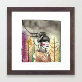 Going for Sushi Framed Art Print