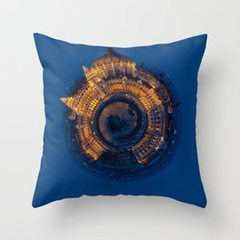 Tiny World of the Hungarian Parliament in Budapest Throw Pillow