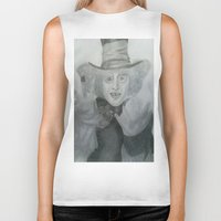 mad hatter Biker Tanks featuring Mad hatter by _littlevoice