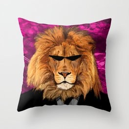 Lion Suit Throw Pillow
