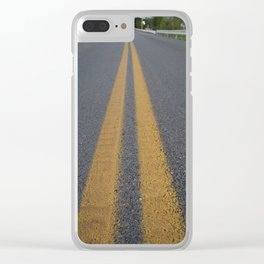 Lonely Road Clear iPhone Case