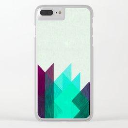 Purple Peaks Clear iPhone Case