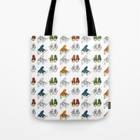 converse Tote Bags featuring Converse by Amy frances Illustration