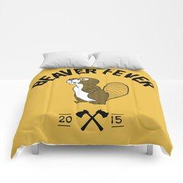 Beaver Fever - Black and White Comforters