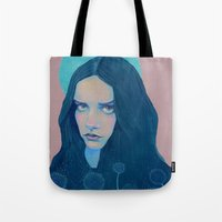 dandelion Tote Bags featuring Dandelion by Natalie Foss