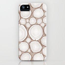 log stacks iPhone Case