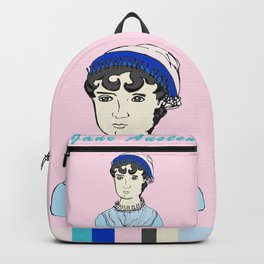 Jane Austen - hand-drawn portrait Backpack