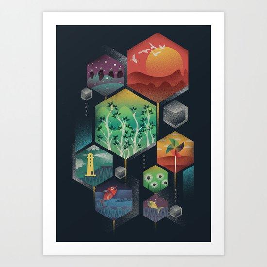 Geometrical Wonders Art Print