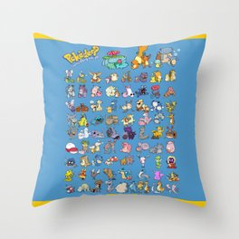 Gotta derp 'em all! - Blue edition Throw Pillow
