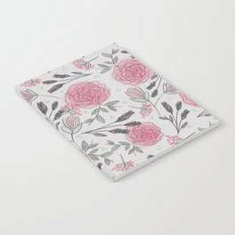 Soft and Sketchy Peonies Notebook