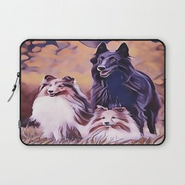 Shetland Collies and Belgian Shepherd Laptop Sleeve