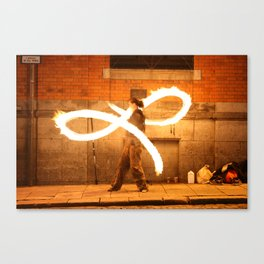 Fire Dancer Temple Bar Dublin Canvas Print