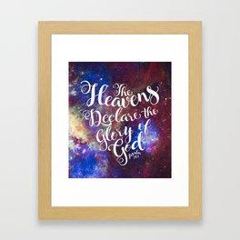 Heavens Framed Art Print