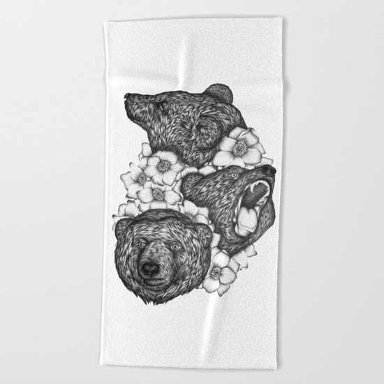 Bears in Bears Beach Towel