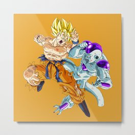 Goku vs Frieza Amazing Metal Print